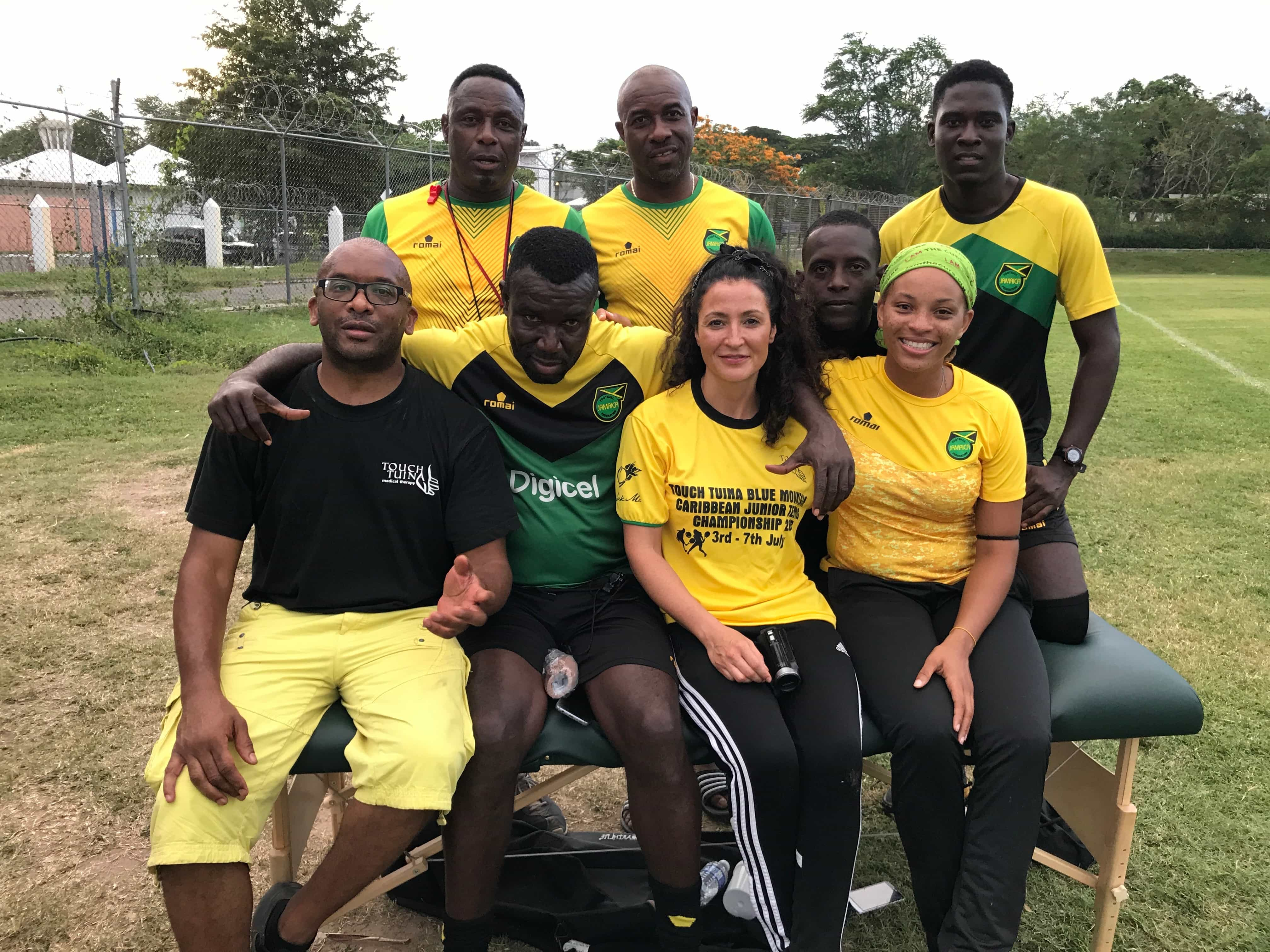 Working with the physios of Jamaica